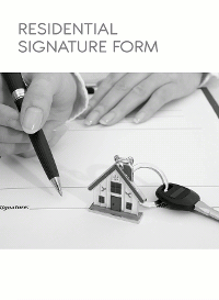 Residential Signature Form